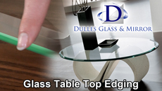 Glass Table Tops Edging
