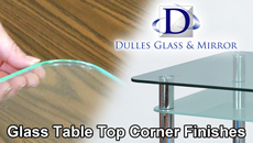 Glass Table Top Corner Finishes