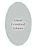 Oval Frosted Glass