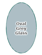 Oval Grey Glass