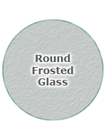 Round Frosted Glass