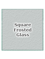 Square Frosted Glass