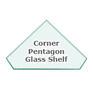 Corner Pentagon Glass Shelves