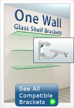One Wall Glass Shelf Brackets