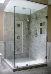 Frameless Shower Door 90 Degree Shower Door