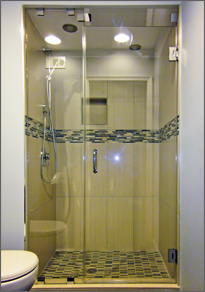 Frameless Inline Shower Door #6