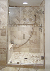 Frameless Inline Shower Door #7
