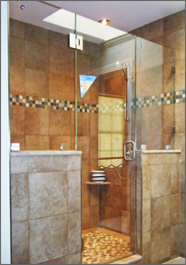Frameless Inline Shower Door #15