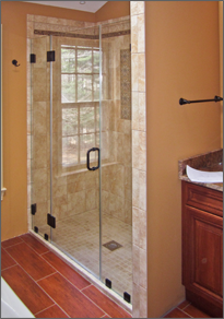 Frameless Inline Shower Door #19