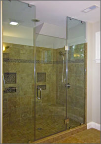 Frameless Inline Shower Door #20