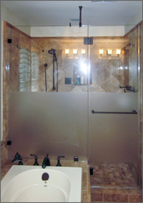 Frameless Inline Shower Door #22