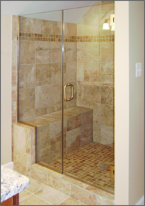 Frameless Inline Shower Door #23