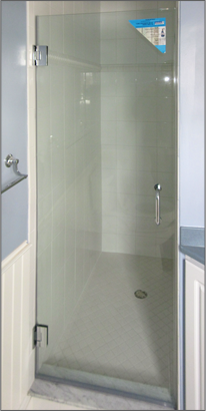 Frameless Shower Door Single Door