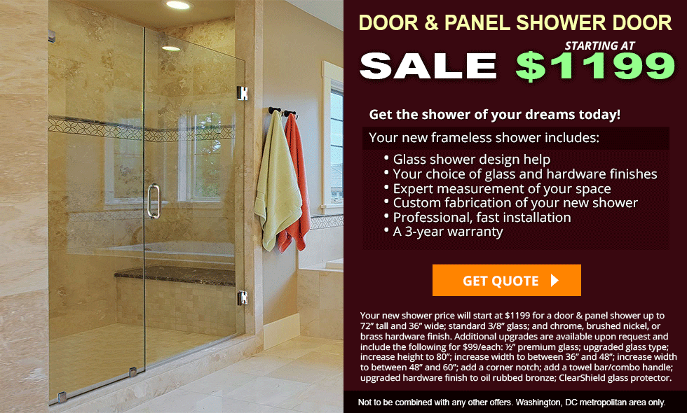 Inline Shower Door Sale