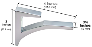 Aluminum Shelf Brackets Dimention