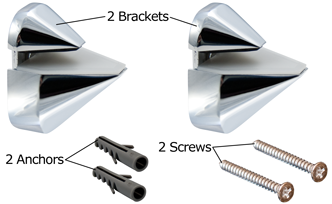 Chrome Adjustable Shelf Bracket Content
