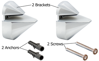 White Adjustable Shelf Bracket Content