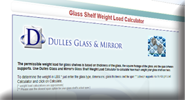 Glass Weight Load Calculator