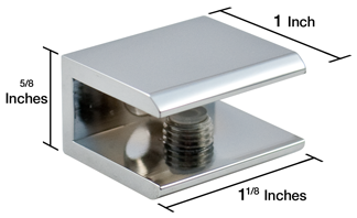 Square Glass Shelf Bracket