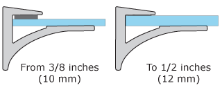Glass Thickness Supported