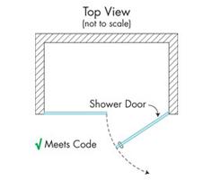 Shower Door Swing