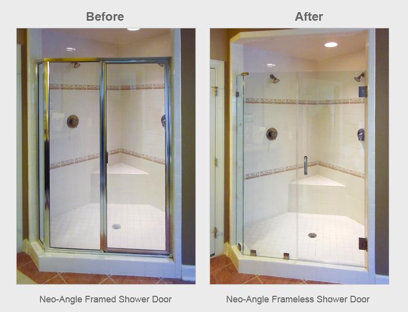 Neo-Angle Shower Door