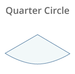 Quarter Circle Glass Shelves