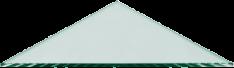 Triangle Glass Shelves