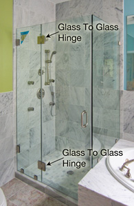 glass to glass hinge shower