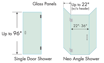 corner shower sizes standard. Neo Angle Glass Panels Choose Your Corner Shower Doors