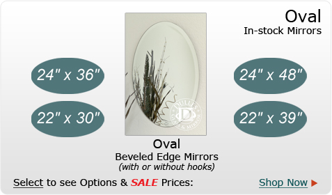 Oval in-stock Mirror