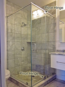 pivot hinge shower