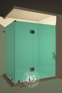 Frameless Shower Door-90 Degree Shower Door
