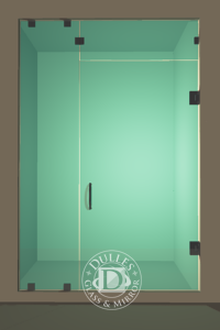 Inline Frameless Shower Door
