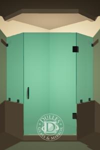 Inline Frameless Shower Door