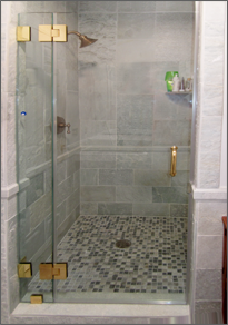 Frameless Inline Shower Door #5