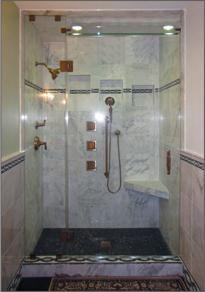 Frameless Inline Shower Door #8
