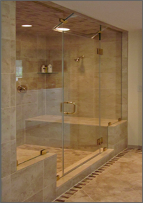 Frameless Inline Shower Door #16