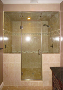 Frameless Inline Shower Door #17