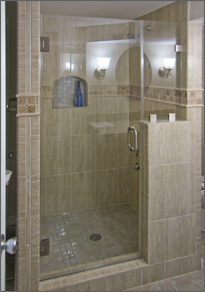 Frameless Inline Shower Door #27