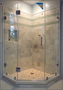 Luxe™ Neo Angle Shower Doors | Dulles Glass and Mirror