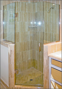 Luxe Neo Angle Shower Doors Dulles Glass And Mirror