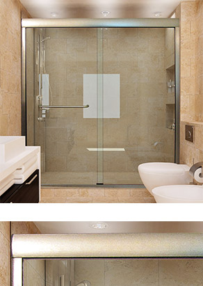 Linear Sliding Glass Doors for Showers and Bathtubs