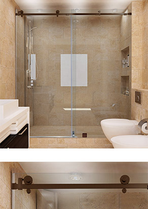 Quadro Sliding Glass Doors for Showers and Bathtubs