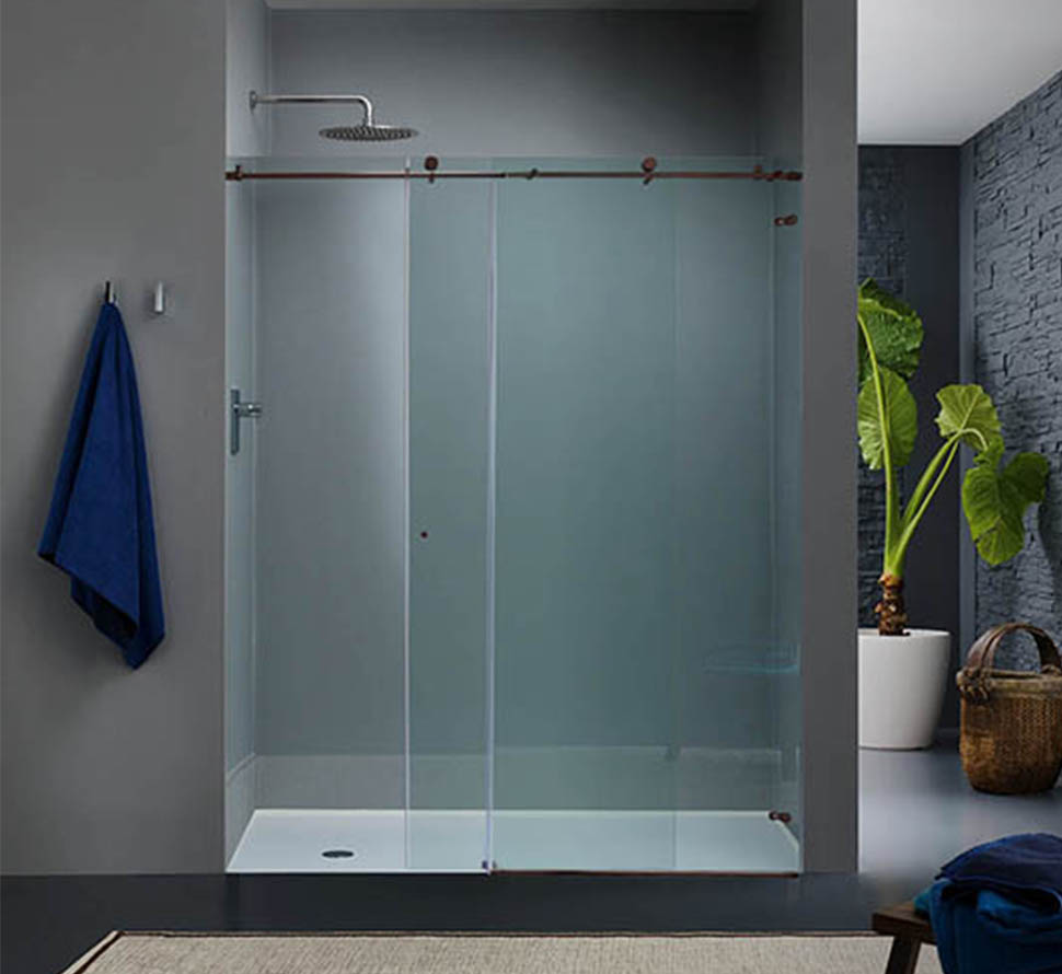Bathroom design ideas designing your dream bathroom glass sliding shower door enclosures are easy to maintain eventelaan Images