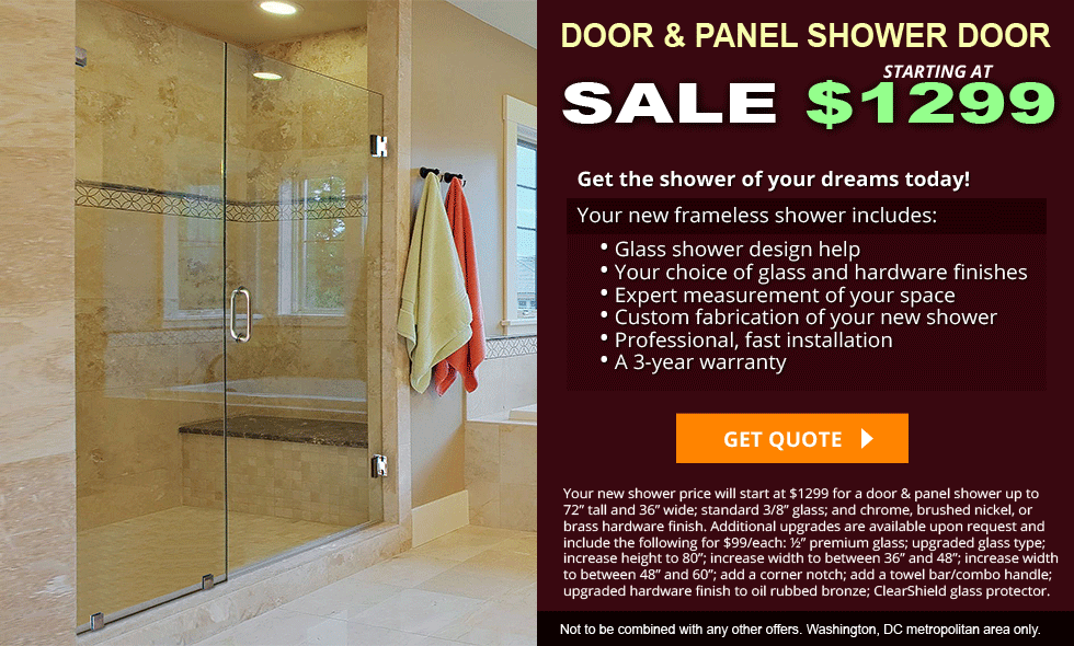 Frameless Inline Shower Doors