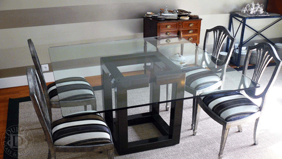 60 Square Glass Table Top