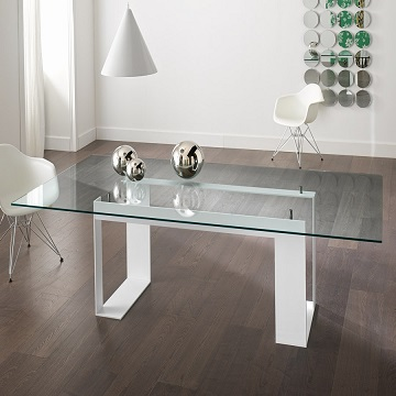 design elegant glass table ideas