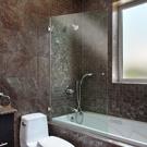 Square corner bathtub screen