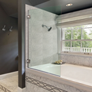 Square Corner Bathtub Screen